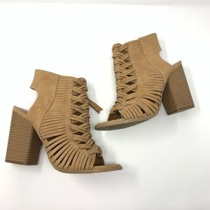 Dolce Vita | Tan Stacked Ankle Boots Size 9.5